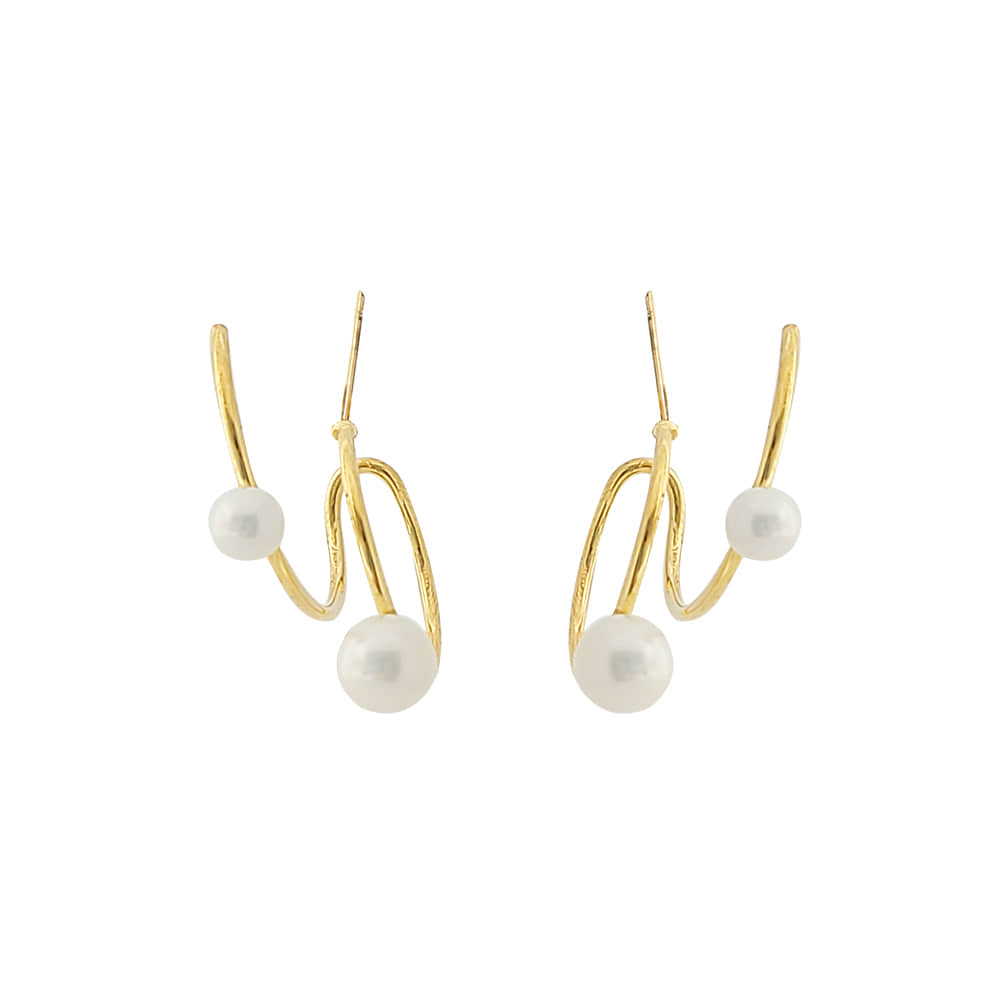 Double Pearl Earrings/더블 펄 귀걸이